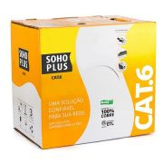 CABO DE REDE LAN CAT6 C/ 305MTS AZUL 305MTS - FURUKAWA