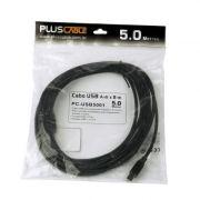 CABO USB 2.0 PARA IMPRESSORA 5.0M PRETO PC-USB5001 - PLUS CA