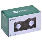 CAIXA DE SOM 2.0 USB 2W PRETO 29384 - VINIK