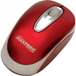 MOUSE OPTICO USB VERMELHO MAXPRINT - 60.275.4