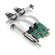 PLACA PCI EXPRESS 2 SERIAIS E 1 PARALELA GA128 - MULTILASER