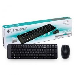TECLADO + MOUSE WIRELESS MK220 ABNT2 PRETO - LOGITECH
