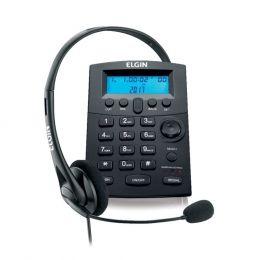 TELEFONE HEADSET HST-8000 PRETO - ELGIN