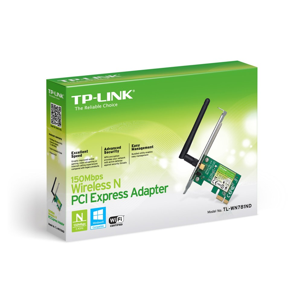 ADAPTADOR PCI-E WI-FI TL-WN781ND 150MBPS - TP-LINK