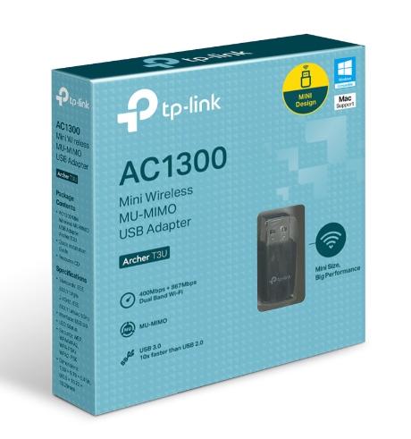 ADAPTADOR USB WI-FI DUAL AC1300 ARCHER T3U MINI - TP-LINK  - GAÚCHA DISTRIBUIDORA DE INFORMÁTICA