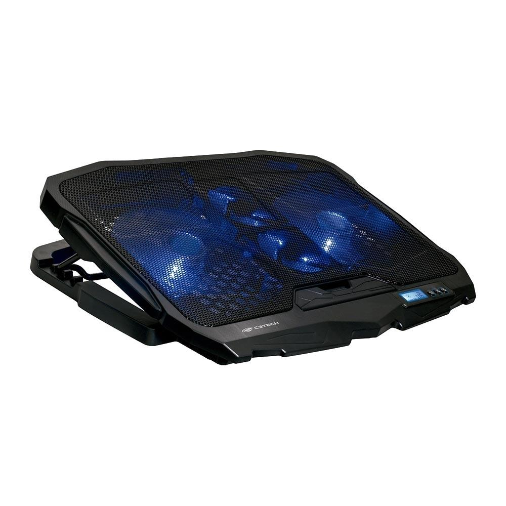 BASE PARA NOTEBOOK C/ COOLER 17.3' NBC-100BK GAMER - C3 TECH