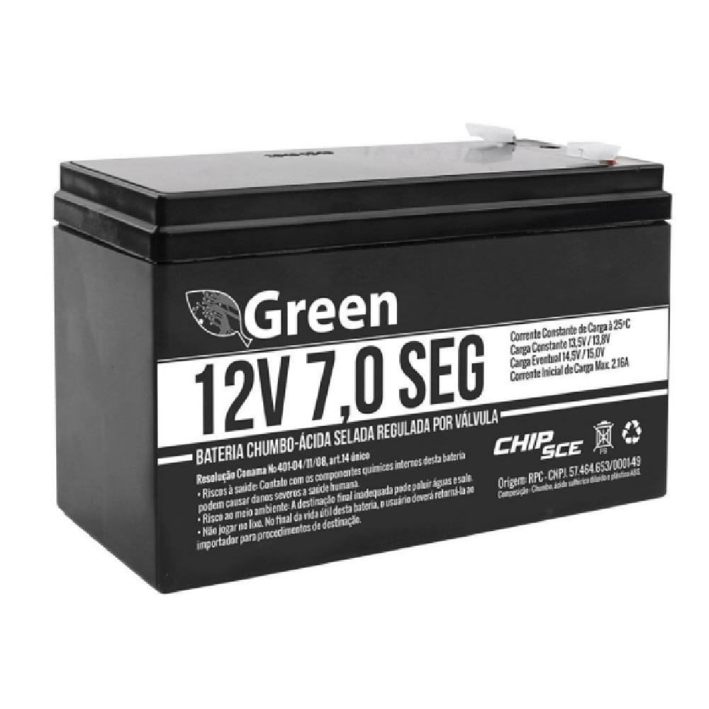 BATERIA SELADA ALARME 12V 7AH SEG 013-3505 - GREEN
