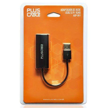 CABO ADAPTADOR USB 2.0 M/RJ45 F ADP-001BK - PLUS CABLE
