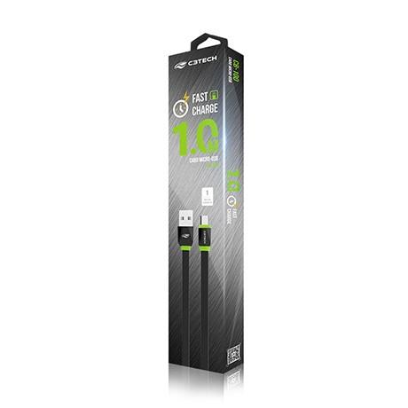 CABO USB-MICRO USB 2.0 1M CB-100BK PRETO - C3