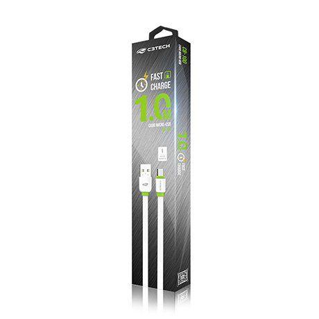 CABO USB-MICRO USB 2.0 1M CB-100WH BRANCO - C3