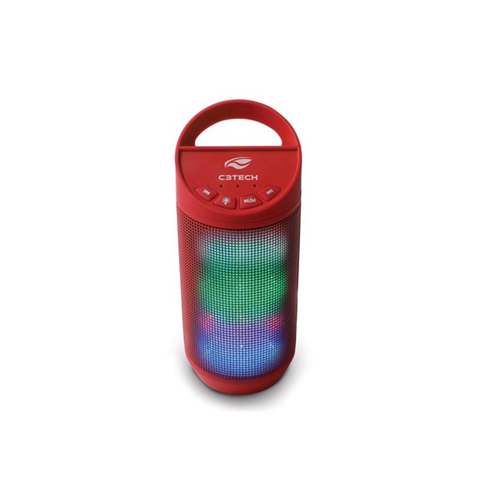 CAIXA DE SOM 8W RMS USB BEAT SP-B50RD BLUETOOTH VERMELH-C3
