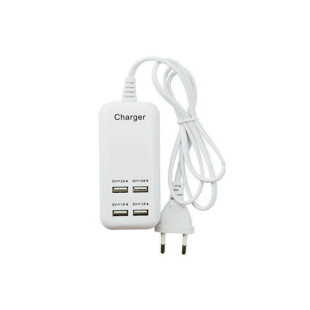 CARREGADOR/HUB USB 4 PORTAS LATERAIS - CHIP SCE