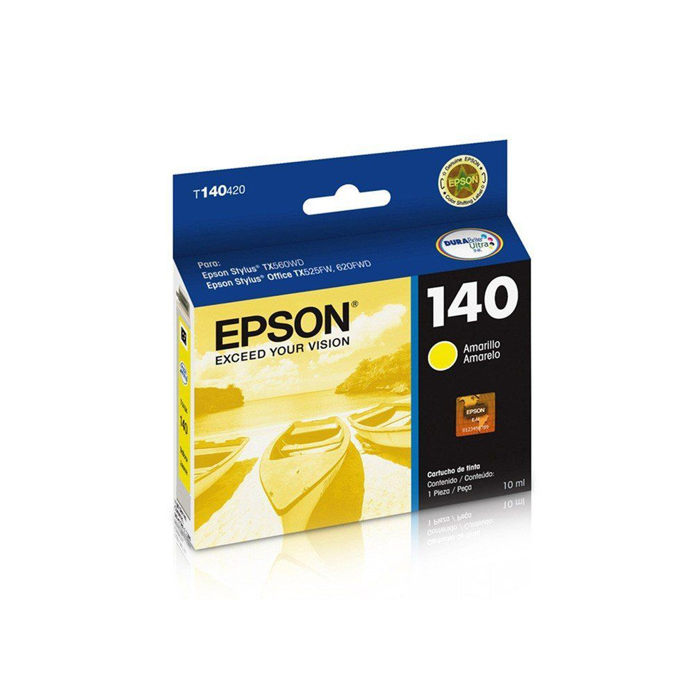 CARTUCHO EPSON T 140 / 420 YEL 10 ML ORIGINAL