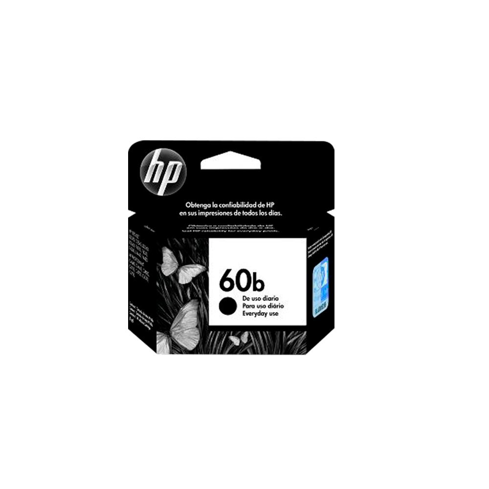 CARTUCHO HP 60B EVERYDAY CC636WB BK 4.5ML ORIGINAL +  - GAÚCHA DISTRIBUIDORA DE INFORMÁTICA