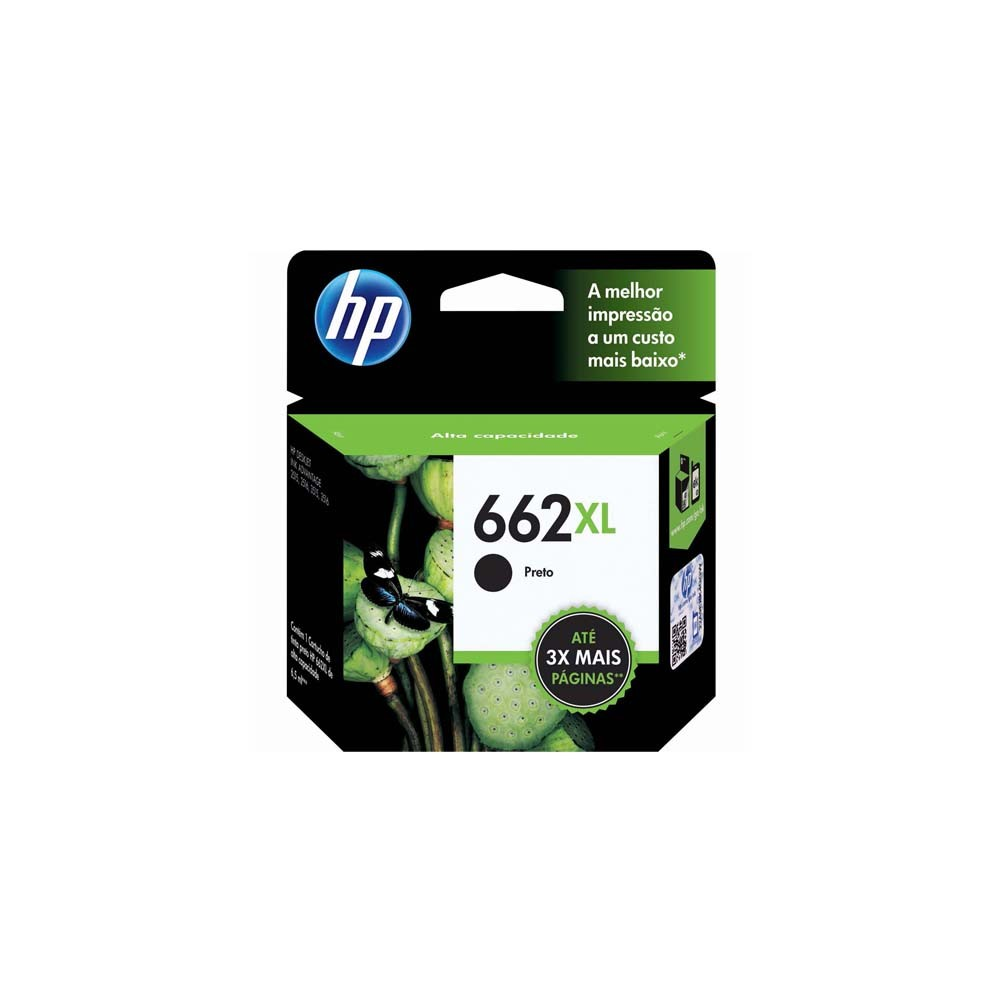 CARTUCHO HP 662XL CZ105AB BK 6.5ML ORIGINAL