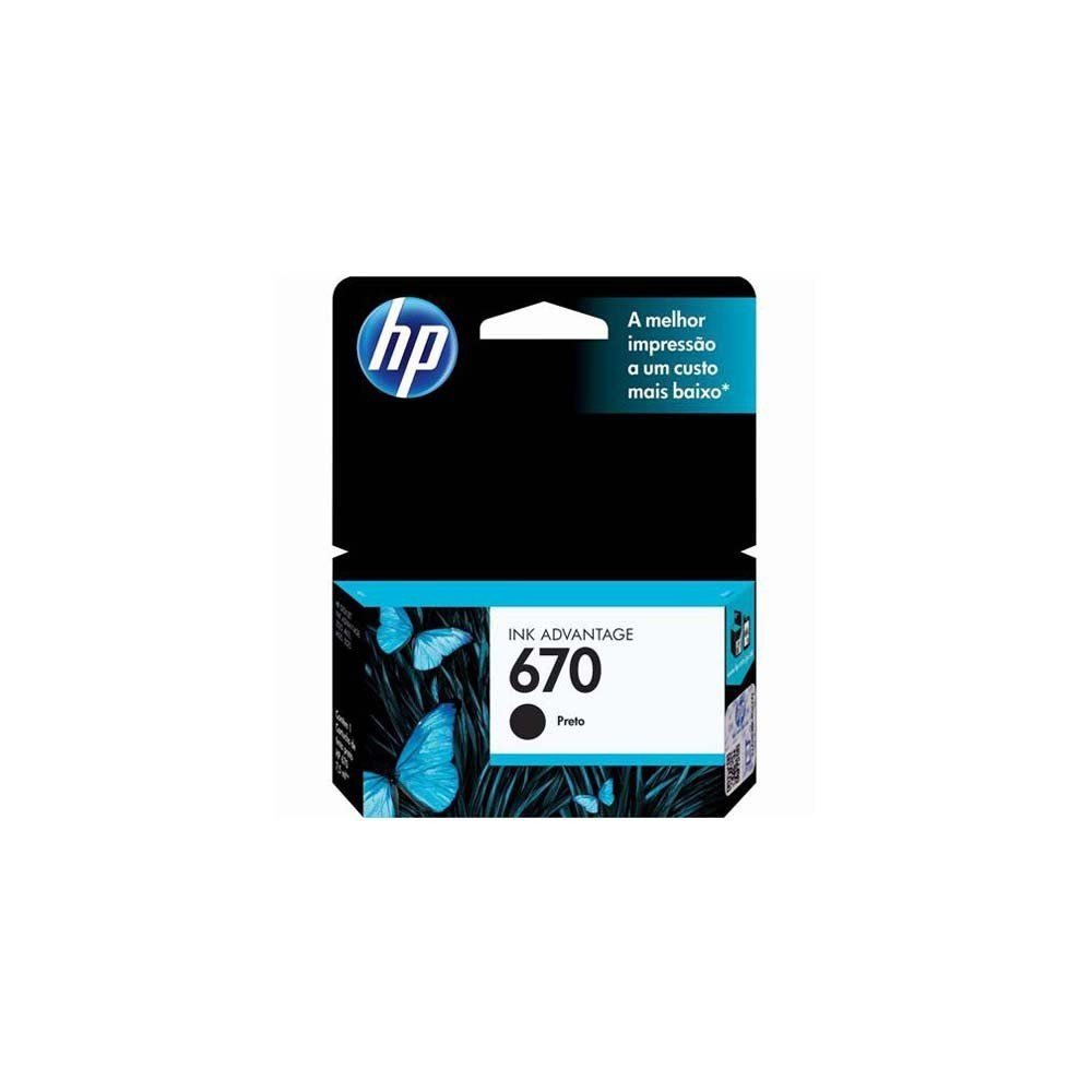 CARTUCHO HP 670 CZ113AB BK 7.5ML ORIGINAL