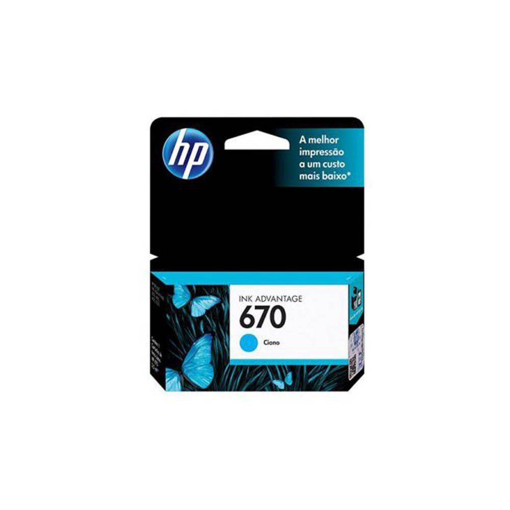 CARTUCHO HP 670 CZ114AB CY 3.5ML ORIGINAL