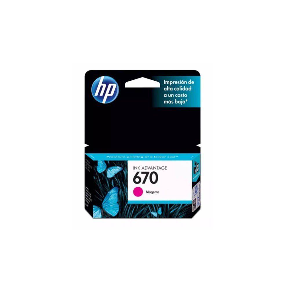 CARTUCHO HP 670 CZ115AB MAG 4ML ORIGINAL  - GAÚCHA DISTRIBUIDORA DE INFORMÁTICA