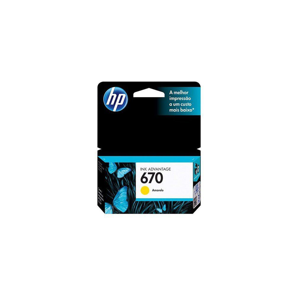 CARTUCHO HP 670 CZ116AB YEL 3.5ML ORIGINAL +