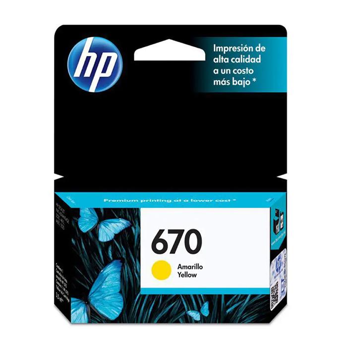 CARTUCHO HP 670 CZ116AB YEL 3.5ML ORIGINAL
