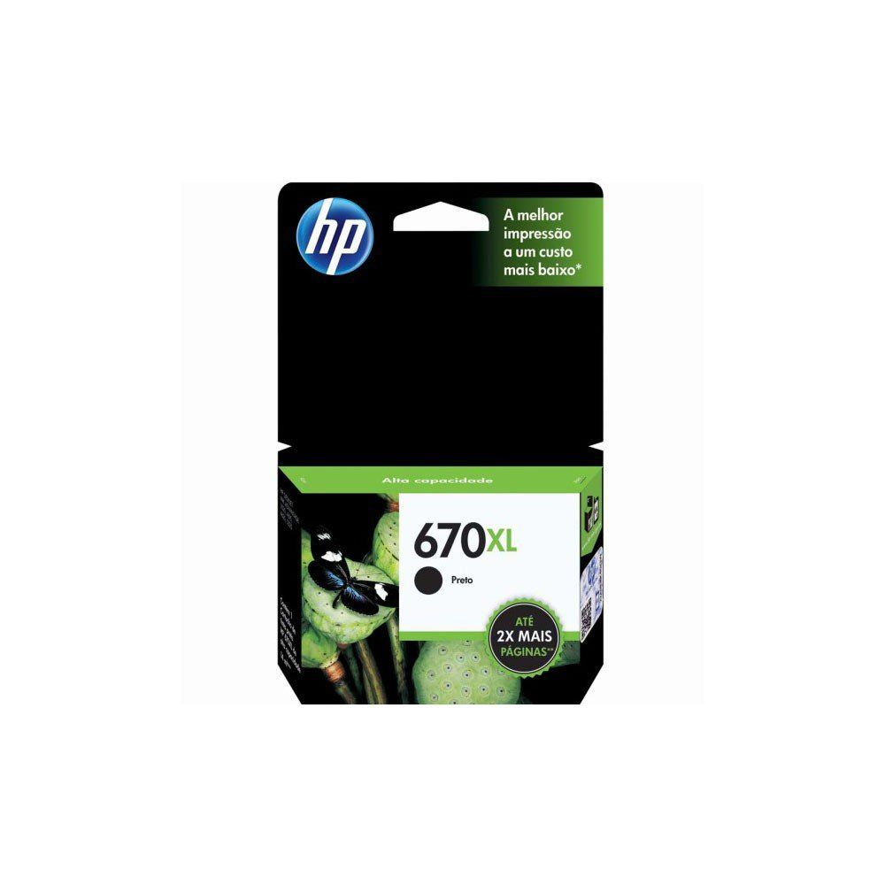 CARTUCHO HP 670XL CZ117AB BK 14ML ORIGINAL