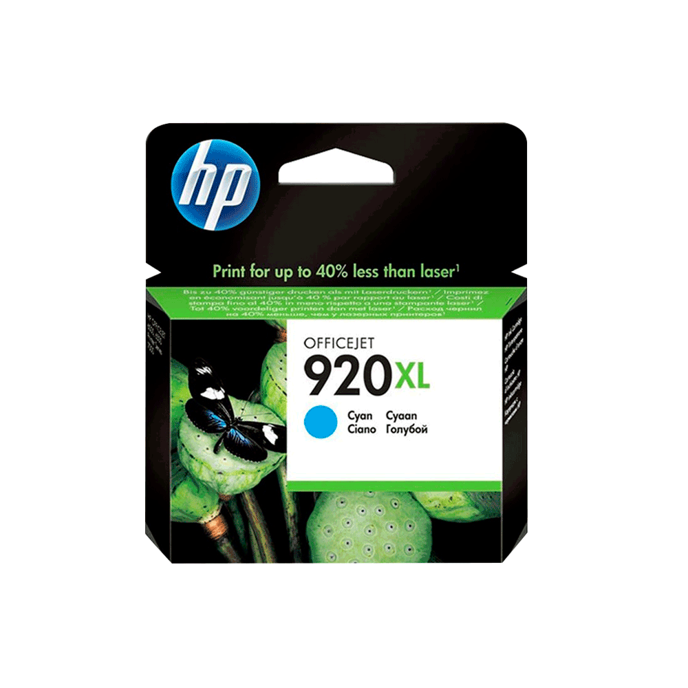 CARTUCHO HP 920 XL CD972AL CY 7.5ML ORIGINAL