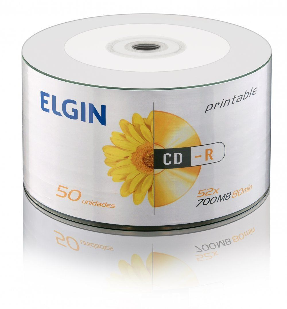 CD-R C/50 700MB/52X - ELGIN  - GAÚCHA DISTRIBUIDORA DE INFORMÁTICA