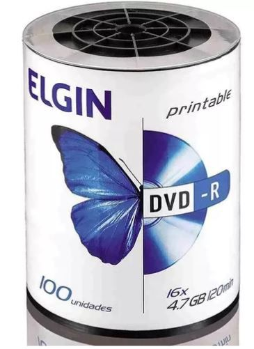 DVD-R C/100 PRINTABLE 4.7GB/8X/16X - ELGIN