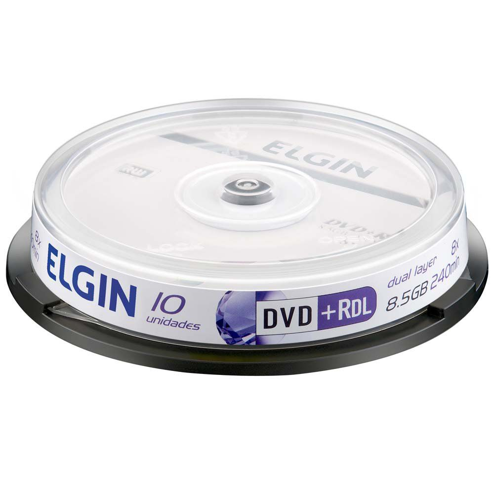 DVD+R C/10 DUAL LAYER 8.5GB/8X - ELGIN