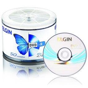 DVD-R C/50 16X 4.7GB 120MIM - ELGIN  - GAÚCHA DISTRIBUIDORA DE INFORMÁTICA