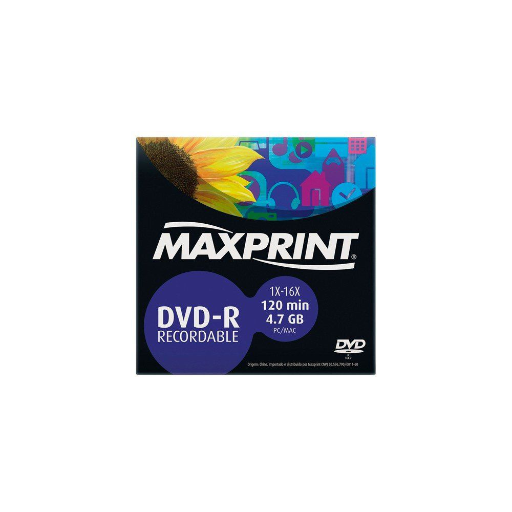 DVD-R ENVELOPE MAXPRINT 4.7GB/16X - 50.200.3 +