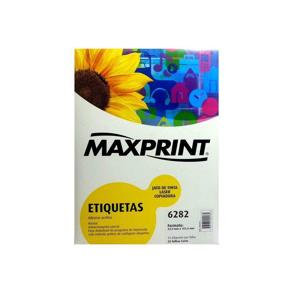 ETIQUETA 6282 25G 33.9X101.6 25FLS MAXPRINT - 49.210.9