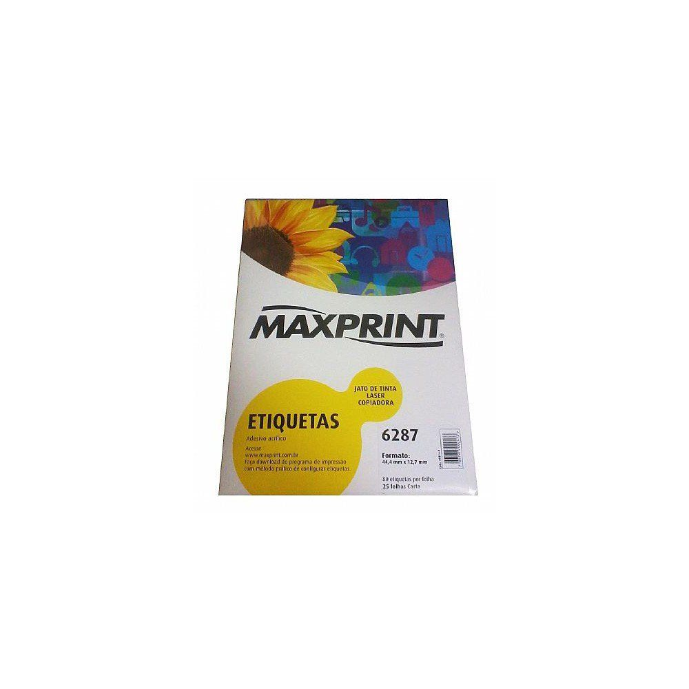 ETIQUETA 6287-87 44.4X12.7 25FLS MAXPRINT - 49.214.7