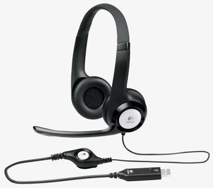 FONE HEADSET C/ MICROFONE H390 PRETO - LOGITECH