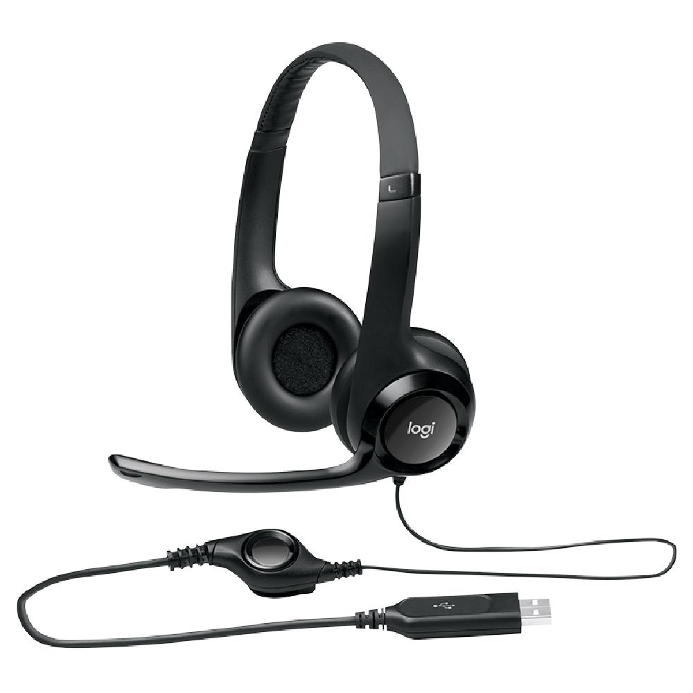 FONE HEADSET USB C/ MICROFONE H390 PRETO - LOGITECH  - GAÚCHA DISTRIBUIDORA DE INFORMÁTICA
