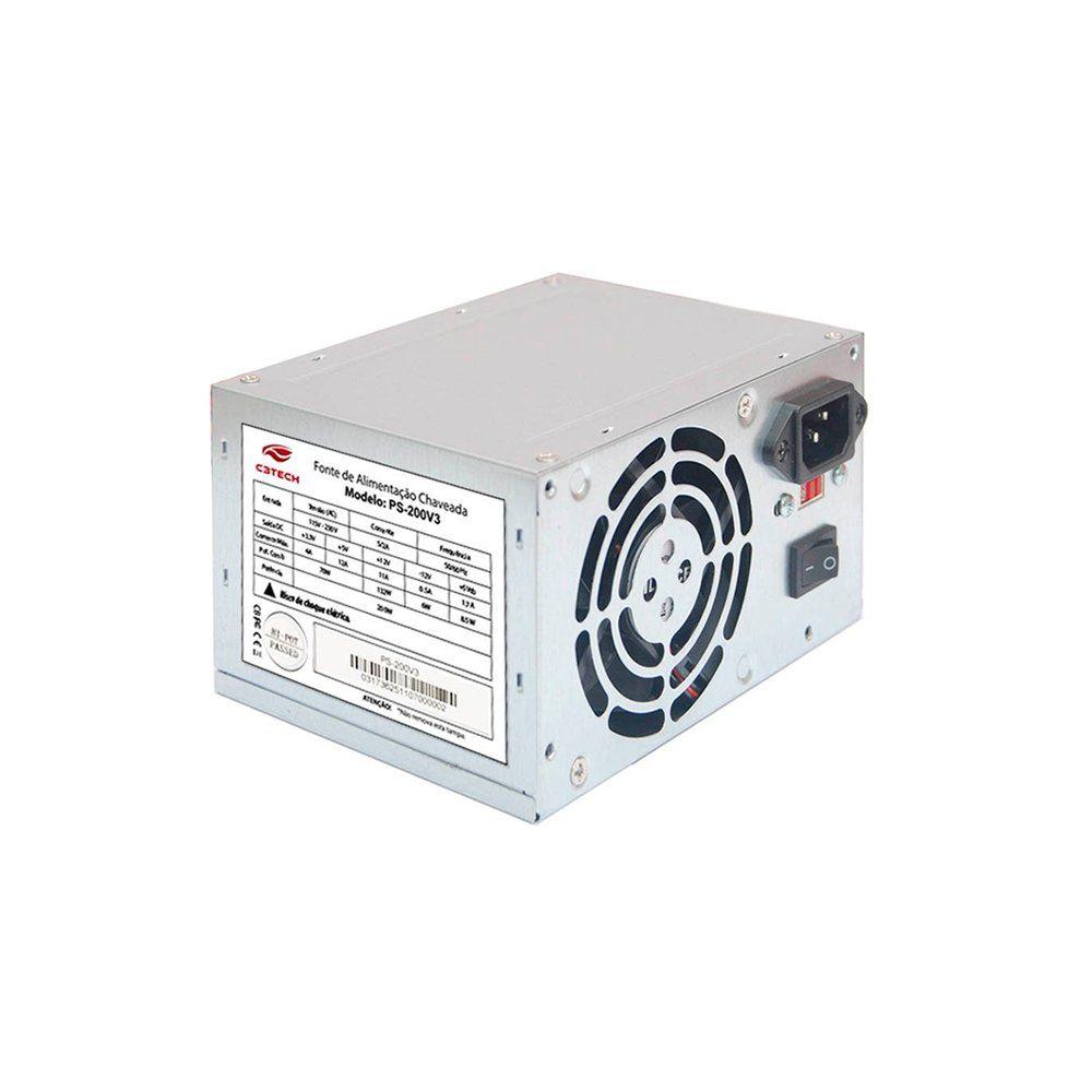 FONTE ATX 200W REAIS S/ CABO PS-200V3 - C3 TECH