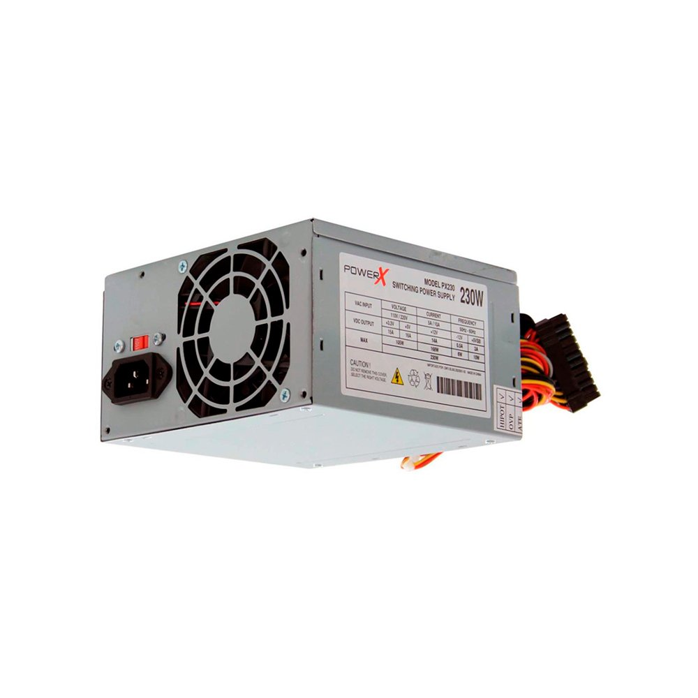 FONTE ATX 230W REAIS PX230 SATA C/ CABO BOX - POWER X