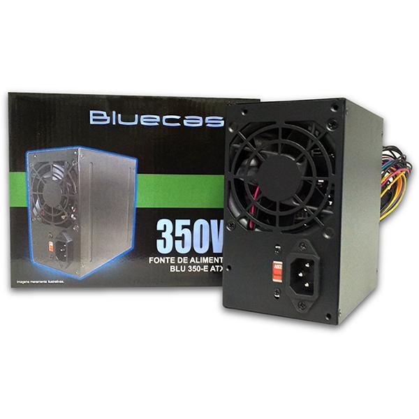 FONTE ATX 350W BLU350ATX BOX C/ CABO - BLUECASE