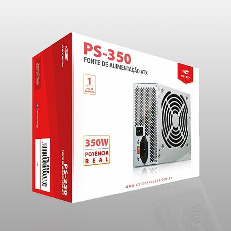 FONTE ATX 350W REAIS PS-350 S/ CABO - C3