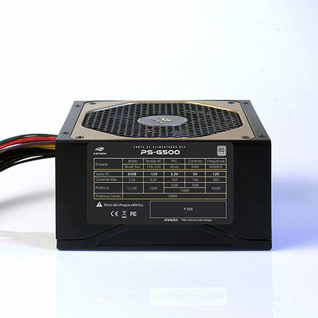 FONTE ATX 500W REAIS PS-G500B 80 PLUS BRONZE - C3 +