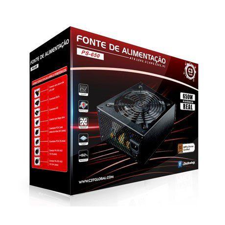 FONTE ATX 650W REAIS PS-650 80 PLUS BRONZE - C3