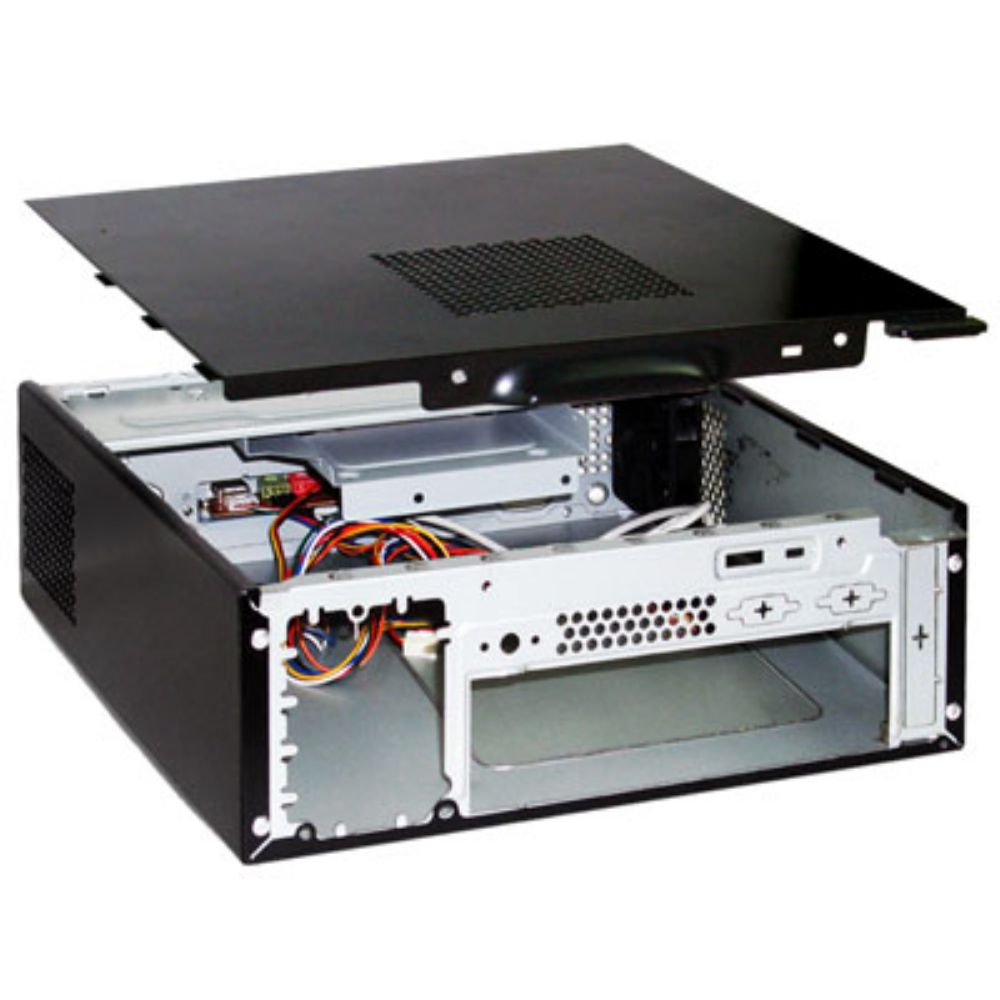 GABINETE ITX 180W MINI GI-9D89 PRETO PIANO - KMEX