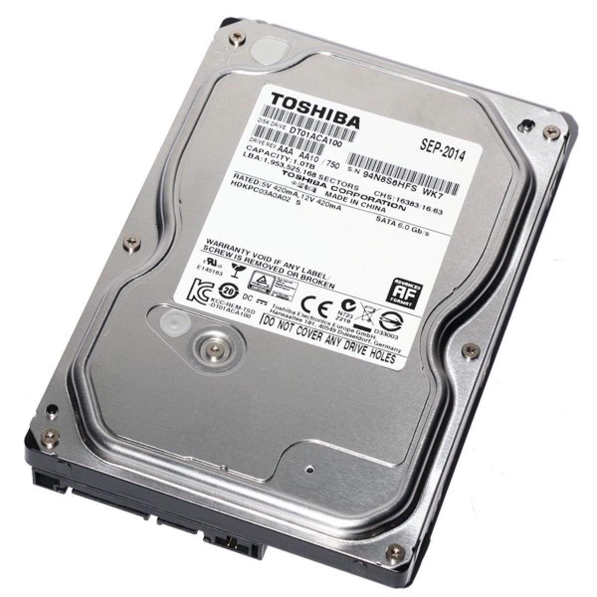 HD 1TB SATA3 DT01ACA100 7200RPM - TOSHIBA  - GAÚCHA DISTRIBUIDORA DE INFORMÁTICA