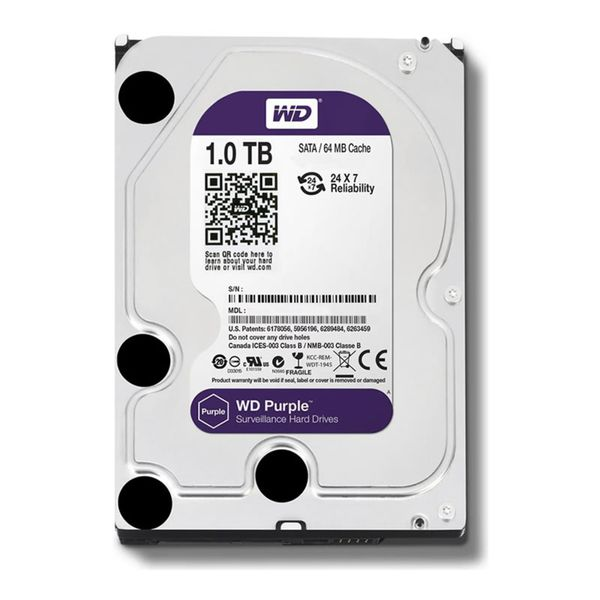 HD 1TB SATA3 WD10PURZ PURPLE 5400RPM - WESTERN DIGITAL