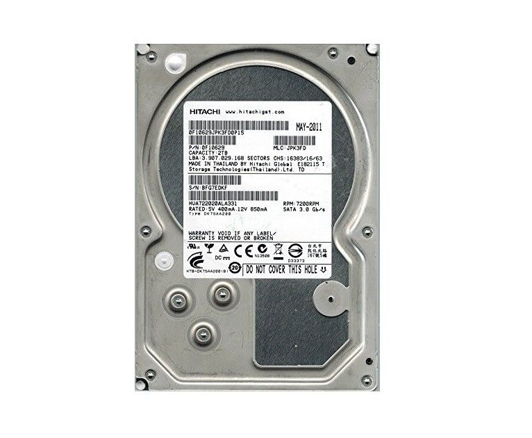 HD 2TB SATA3 HUA723020ALA641 7200RPM - HITACHI