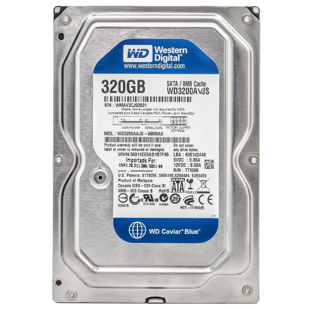 HD 320GB SATA2 7200RPM WD3200AVJS - WESTERN DIGITAL