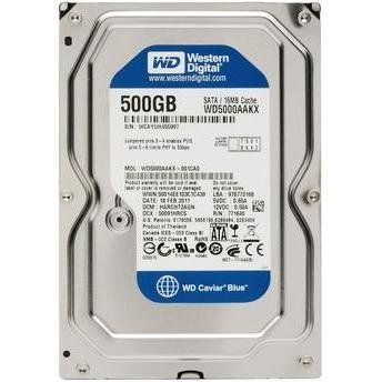 HD 500GB SATA3 INTELLIPOWER WD5000AUDX - WESTERN DIGITAL