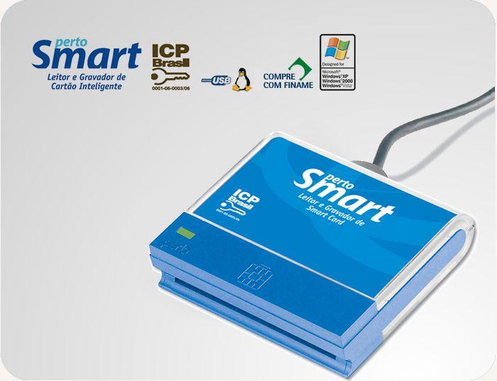 LEITOR DE CARTÃO SMARTCARD P/ CERT. DIGITAL PS-1000 - PERTOSMART