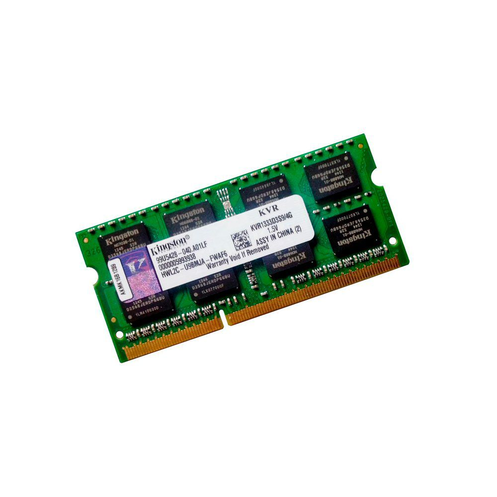 MEMORIA P/ NOTEBOOK 4GB DDR3 1333 KVR1333D3S9/4G-KINGSTON +  - GAÚCHA DISTRIBUIDORA DE INFORMÁTICA