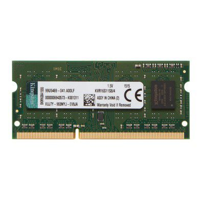 MEMORIA P/ NOTEBOOK 4GB DDR3 1600 KVR16S11S8/4 - KINGSTON